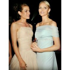 Princess Charlene of Monaco (right) and Charlotte Casiraghi (on left,granddaughter of Grace Kelly) Charlotte Casiraghi, Andrea Casiraghi, Grace Kelly, Patricia Kelly, Fürstin Charlene, Princesa Charlene, Charlene Of Monaco, Princess Charlotte Of Monaco, Princess Stephanie