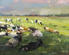 LSU04-2016-Painting-Roos-Schuring-Cows-Enjoying-Shade-in-Summer