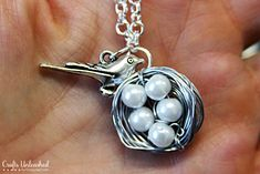 Bird Necklace Tutorial: Make a Wire Wrapped Nest Charm
