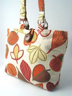 vegan handmade tote bag, purse, handbag, shoulder bag, tapestry bag. $95.00, via Etsy.