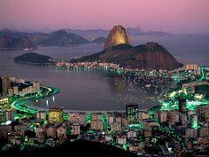 Fascinating night time at Rio De Janeiro, Brazil