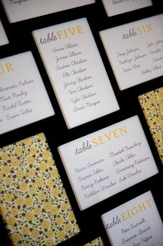 Use a giant multi-picture picture frame for the seating chart
