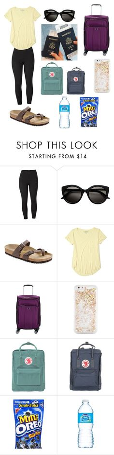 """""""Coming home"""" by bibi-infinity on Polyvore featuring Venus, Birkenstock, Hollister Co., Delsey, ban.do, Fjällräven and plus size clothing"""