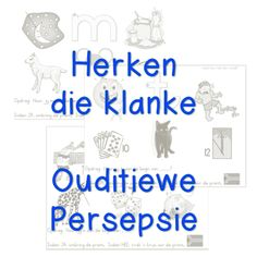Speech Language Therapy, Speech And Language, Preschool Learning, Teaching, 1st Grade Worksheets, Phonological Awareness, School Readiness, Afrikaans, Science Experiments