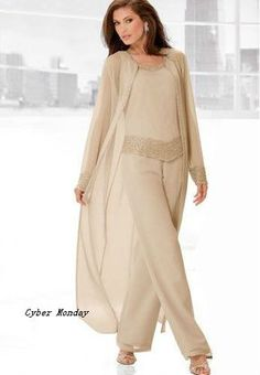 Elegant Mother Of The Bride Pant Suit 2017 Fashion Chiffon Beach Wedding Mother'S Groom Dress Long Sleeve Beads Mothers Formal Wear Mother Of The Bride Suit Mother Of The Bride Pant Suits From Youxi_dresses, &Price; Mother Of The Bride Plus Size, Mother Of The Bride Dresses Long, Mothers Dresses, Wedding Dresses Plus Size, Trendy Dresses, Plus Size Dresses, Dress Wedding, Mother Of The Bride Trouser Suits, Pantalon Costume
