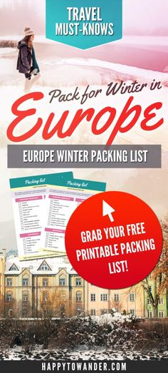How to pack for a winter Europe trip! This golden guide is a must-read for anyone travelling in Europe during the winter and need help packing. Includes a full packing list and detailed explanation.