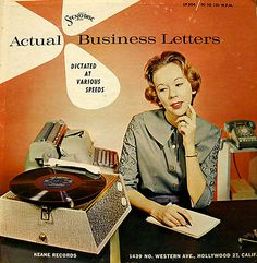 Actual Business Letters, Dictated At Various Sppeds, LP, StenoDisc/Keane Records