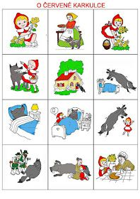 Procvičujme a trénujme s rodiči Sequencing Cards, Story Sequencing, Fairy Tale Activities, Preschool Activities, Little Red Ridding Hood, Picture Story, Stories For Kids, Kids Education, Nursery Rhymes