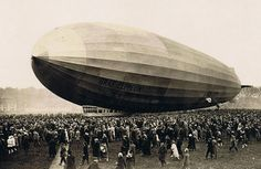 On July 2, 1900, the first rigid airship designed by Count Ferdinand Adolf Heinrich August Graf von Zeppelin took to the air from a floating hangar on Lake Constance near the factory where it was built in Friedrichshafen, southern Germany.