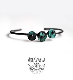 Minimalist bracelet cuff made from real turquoise stone (not imitation) and patinated recycled copper.   #artkvarta #bracelet #cuff #gems #turquoise #gemstone #modern #simple #summer #jewelry #jewellery #handmade #jewelrydesign #jewelryshop