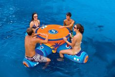 WOW Aqua Floating Table & Bar Gets You Sedentary This Summer -  #bar #party #pool #swimming