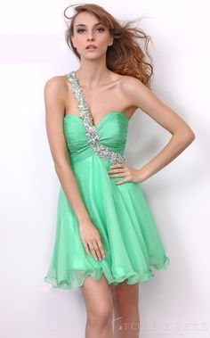 Sexy A-Line One-Shoulder Green Sweetheart Homecoming Dress at Storedress.com
