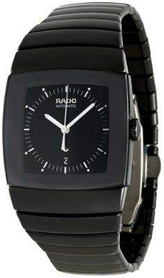 Rado Men's R13883182 Sintra Black Dial Watch Rado. $1943.50. Case diameter: 32.4 mm. Scratch resistant sapphire crystal. Ceramic watch. Automatic movement. Water-resistant to 30 M (99 feet)