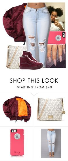 """""""Me n you girl that's amazing"""" by heeytyy ❤ liked on Polyvore featuring MICHAEL Michael Kors and Vans"""