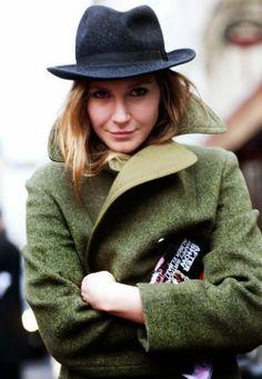 Chesterfield green warm winter coat fashion trend