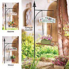 Welcome sign garden planter