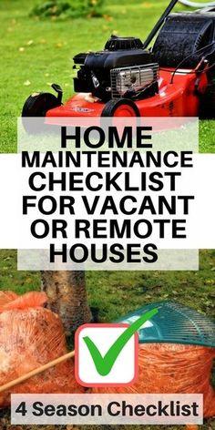 Home Maintenance tips for vacant houses on long Island - 4 season checklist