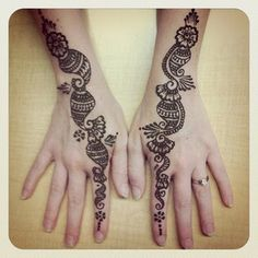 cute simple henna designs for girls - Google Search