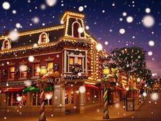 Disneyland at Christmas (but, SNOW in Anaheim?  Uh-- I don't think so!!-- HaHa!!)