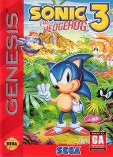 Sonic The Hedgehog 3 Sega Genesis Game Cartridge | DKOldies.