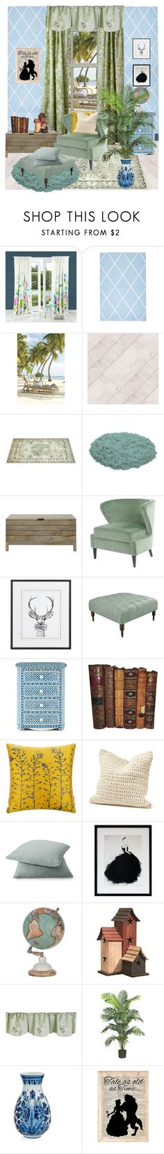 """""""Mist green is entering to mean effort, talent and courage."""" by hiroko-eirai ❤ liked on Polyvore featuring interior, interiors, interior design, home, home decor, interior decorating, Bluebellgray, Laura Ashley, John Lewis and Skyline"""