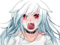 Bildergebnis für anime girl white hair green eyes neko