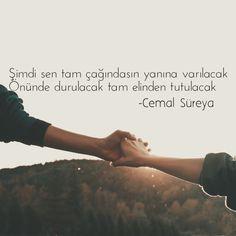 Şimdi sen tam çağındasın yanına varılacak  Önünde durulacak, tam elinden tutulacak  - Cemal Süreya  www.love.gen.tr #Aşk #Sevgi Learn Turkish Language, Powerful Words, Cute Love, Cool Words, Quotations, Inspirational Quotes, Thoughts, Sayings, Balcony