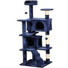 Pawhut 70cm Height Cat Post Tree Scratching Barrel Sisal Activity Center Condo Kitten Bed Scratcher Climbing Climber Play House