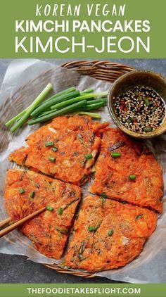 Vegan Recipes Easy, Asian Recipes, New Recipes, Vegetarian Recipes, Cooking Recipes, Ethnic Recipes, Veggie Recipes, Recipies, Korean Jeon Recipe