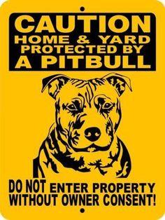 PITBULL, PIT BULL, ALUMINUM DOG SIGNS 2496HYPB