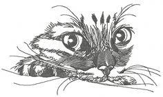 Curious cat 5 machine embroidery design