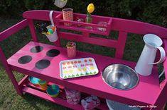 Sommerküche bauen, Matschküche bauen, Wasserspielküche,  kinderspiel, Kinderküche, Outdoorküche