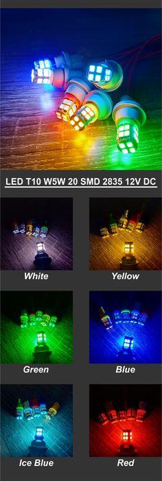 Lampu variasi mobil motor LED T10 W5W model tancap di Surabaya. Bisa digunakan untuk lampu senja atau sein. Lampu LED ini hanya bisa berjalan di arus DC 12V - 15V.