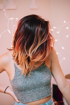 Image result for  red ombre hair