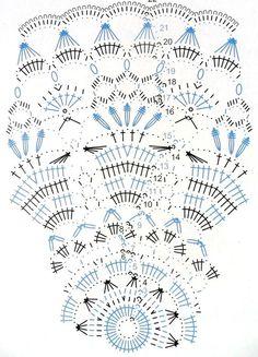 Kira scheme crochet: Scheme crochet no. Crochet Doily Diagram, Crochet Mandala Pattern, Crochet Circles, Crochet Chart, Thread Crochet, Crochet Stitches, Knit Crochet, Crochet Patterns, Tatting Patterns