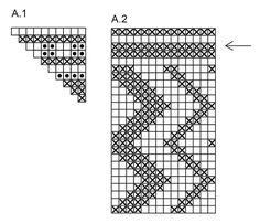 Native American Geometric Design Pattern Chart for Cross
