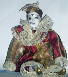 Porcelain Clown Dolls | Kingstate Porcelain Clown Doll - Other