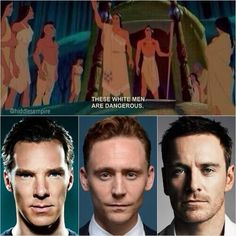 Benedict Cumberbatch, Tom Hiddleston, and Michael Fassbender