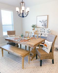 Designed by @magnoliadimesdesign Furniture, Rugs, Table, Home, Dining, Dining Room, Area Rugs, Home Decor, Room