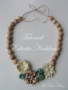 Floral Necklace tutorial