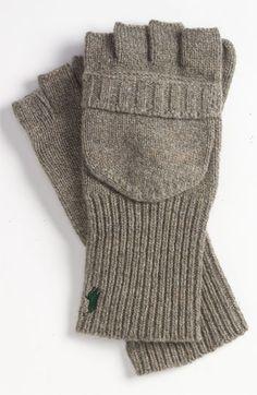 Polo Ralph Lauren 'Signature' Convertible Gloves   Essentials (men's accessories), visit http://www.pinterest.com/davidos193/