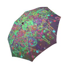 Exploding Disco Lights and Colours Auto-Foldable Umbrella (Model Disco Lights, Umbrellas, Outer Space, Colours, Model, Scale Model, Cosmos, Universe