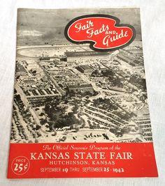 1942 Kansas State Fair Official Souvenir Program Hutchinson KS Vintage