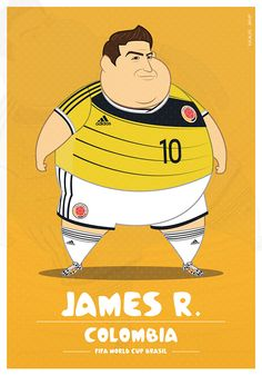 #Illustration : James Rodriguez, Colombie | #Football #CDM2014