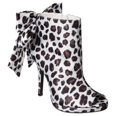 Women's Kate Young for Target® Naya Ankle Bootie with Bow - Leopard How about a Little animal print?