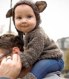 Fancy - Knitted baby hoody