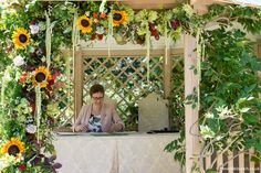 Hanging Garland, Outdoor Ceremony, Summer Colors, Somerset, Be Perfect, Summer Wedding, Wedding Flowers, Pergola, Floral Wreath