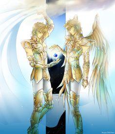 Saint Seiya - Leo Aiolia & Sagittarius Aiolos