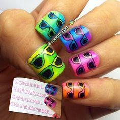 neon sunglasses!