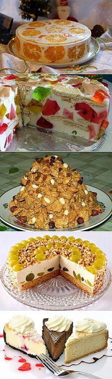 Как приготовить без выпечки торт с желатином и без него?